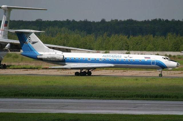 Самолет Ту-134, потерпевший крушение при выполнении рейса Москва-Волгоград.