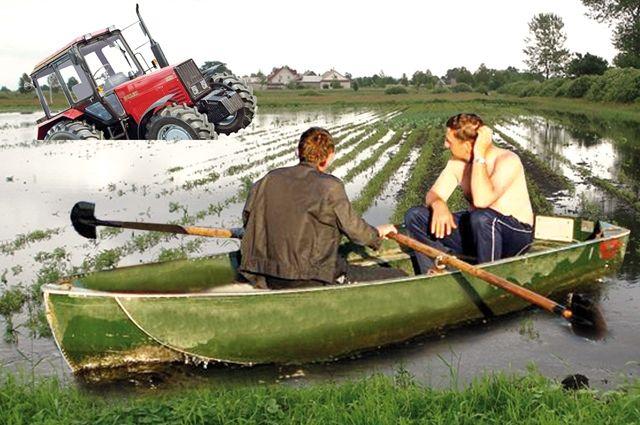 Фермеры не могут выйти на поля.