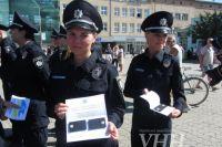 Патрульные города Ужгорода получили офицерские погоны