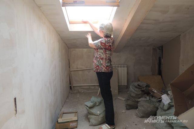 Вот такие комнаты появились на чердаке дома.