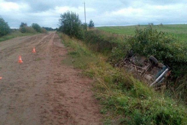 ВАЗ перевернулся вкювет вВеликоустюгском районе: один человек умер