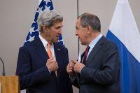 Сергей Лавров и Джон Керри в Женеве.
