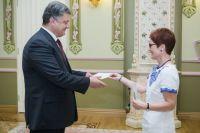 Петр Порошенко и Мари Йованович