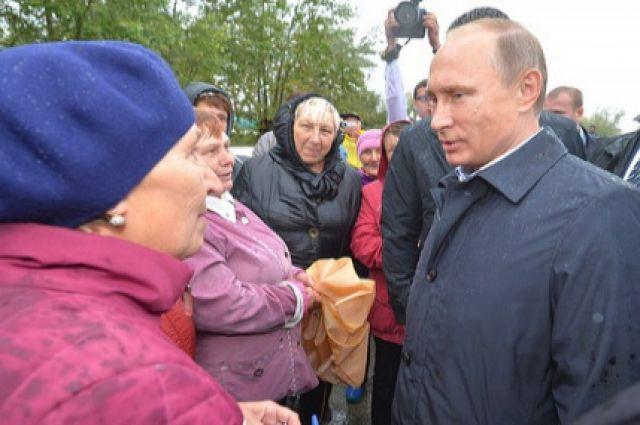 Путин во время предыдущего визита в Хакасию