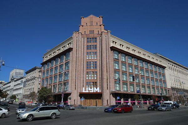 Фасад центрального универмага Киева теперь выглядит именно так