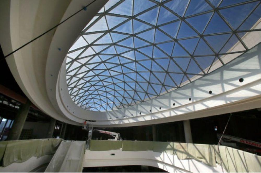 Так изнутри выглядит крыша. Изящно смотрится
