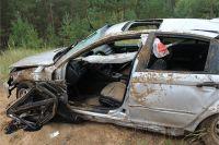В Кильмезском районе машина опрокинулась в кювет.