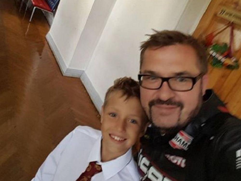 Александр Пономарев отвел сына в четвертый класс