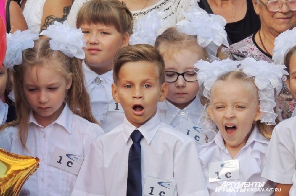 Но некоторые малыши все равно продолжали зевать.