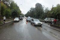 ДТП произошло на Октябрьском проспекте.