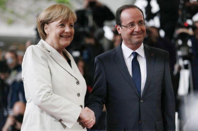 Меркель иОлланд выступили сзаявлением относительно предотвращения огня вДонбассе
