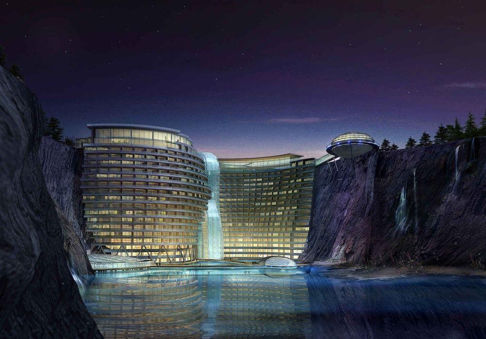 Вечернее фото этого сказочного отеля для отдыха