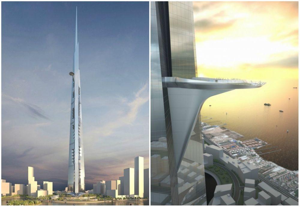 Строительство королевской башни с самой высокой в мире террасой должно закончиться в 2019 году. Высота - около 1 км!