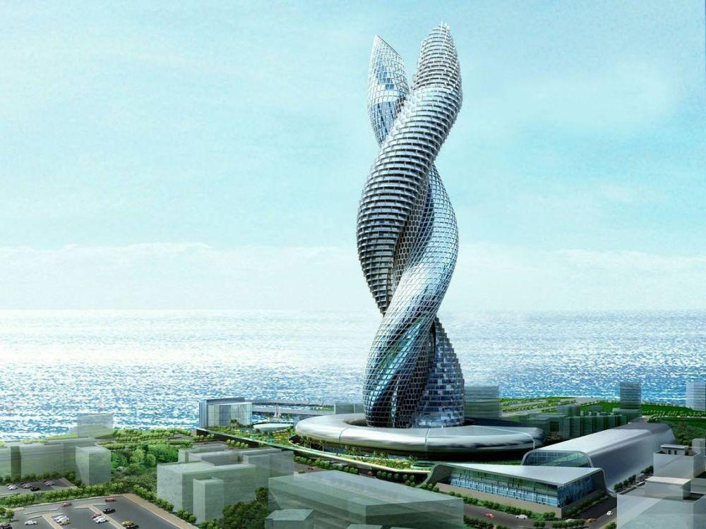 Пожалуй самое эффектное здание башен-кобр, строительство которого намечалось еще на 2008 год