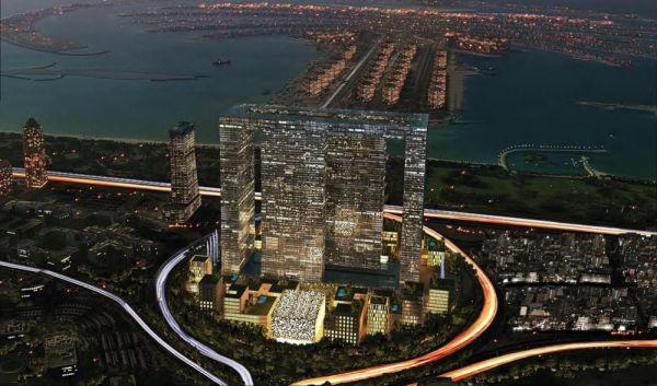 В этом здании под названием Dubai Perl, которое находится в ОАЭ, будет 4 башни, которые будут объединяться небесным мостом. С виду похоже на жилой дом, но там еще будет премиум-театр на 1500 мест