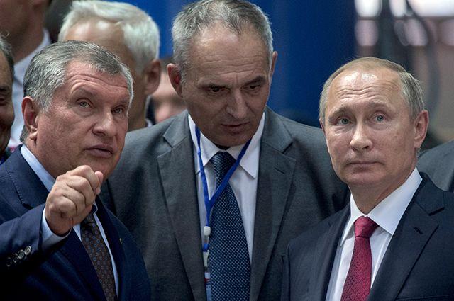 Владимир Путин, Игорь Сечин и генеральный директор ОАО «ДВЗ