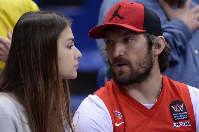 Александр Овечкин и Анастасия Шубская.