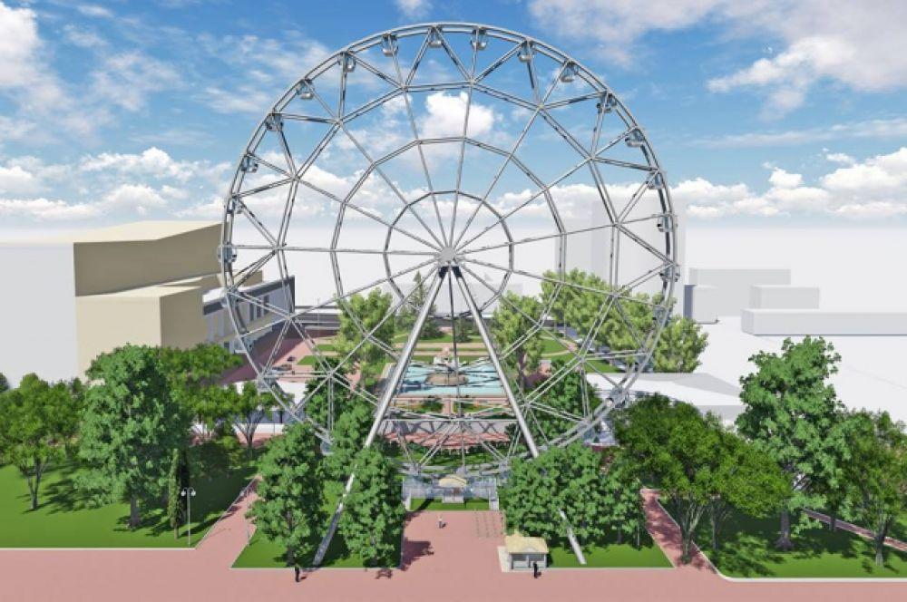 Второе по величине в России колесо обозрения «Одно небо» открыто в донской столице 3 сентября.
