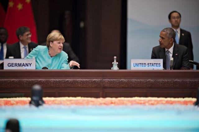Обама обговорил сМеркель иОлландом ситуацию вУкраинском государстве