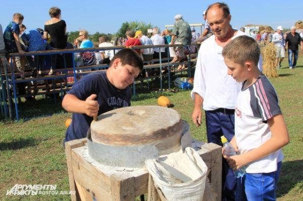 Демонстрация технологических приемов обработки зерновых культур.