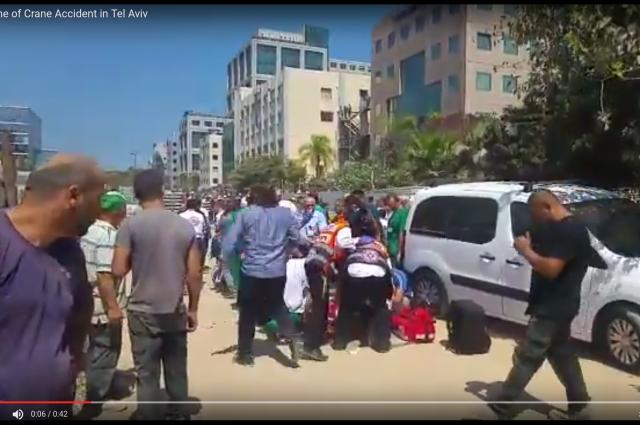 Размещено видео обрушения здания вТель-Авиве