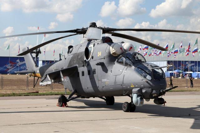 РФзаключила сНигерией договор напоставку ударных вертолетов МИ-35М