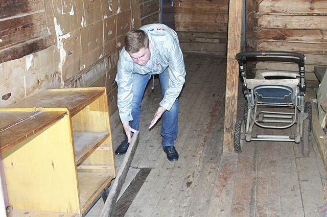 Никакого ремонта в домах не проводилось.