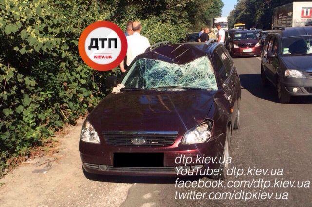 Неподалеку от украинской столицы случилось спонтанное ДТП