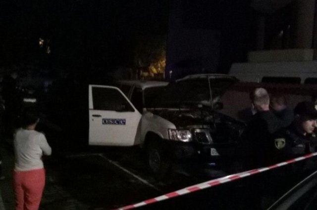 ВИвано-Франковске подожгли машину миссии ОБСЕ