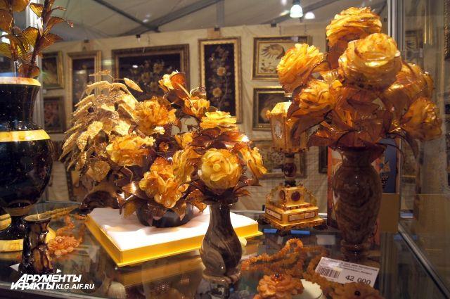 В Калининграде откроется выставка авторских изделий из янтаря.