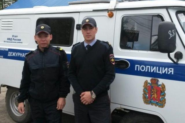 Эти полицейские всегда готовы прийти на помощь.