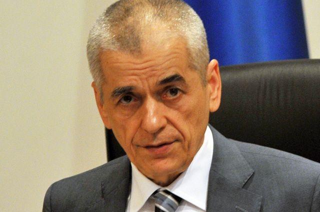 Геннадий Онищенко привился отгриппа впрямом радиоэфире