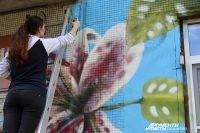 На граффити у Юлии ушла неделя