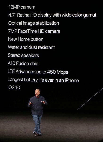 Характеристики нового iPhone 7.