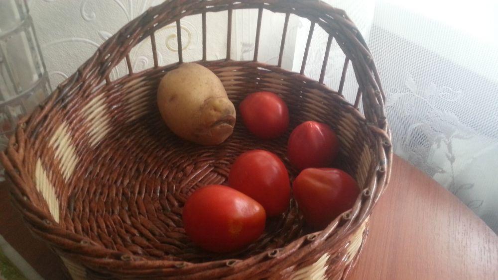Картофельный монстрик хрюшка и его овощные друзья.
