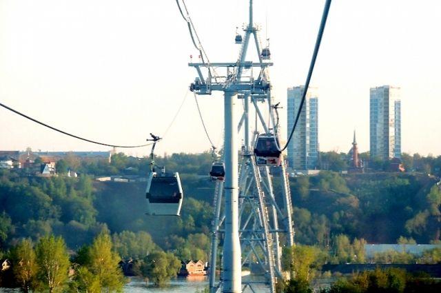 Скорость канатной дороги Нижний Новгород— Бор снижена из-за ветра 8сентября