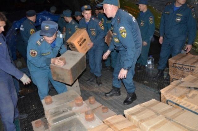 ВПриморье вылетел самолет МЧС сгуманитарной помощью