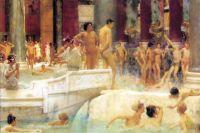 Фрагмент картины Лоуренса Альма-Тадемы «Термы (бани) Каракалла», 1899 год