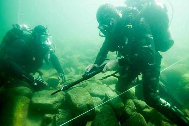 Соревнования водолазных подразделений войск национальной гвардии