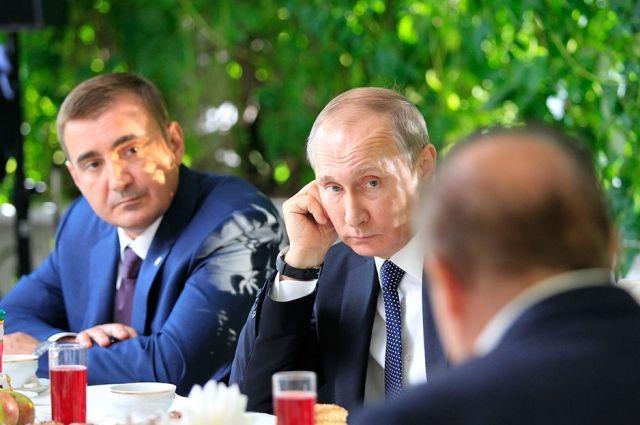 Владимир Путин и Алексей Дюмин в Ясной Поляне
