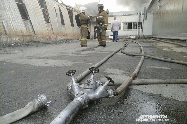 Пожар в столице России: работникам типографии начали выдавать заработной платы