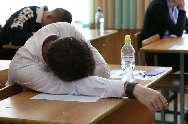 Утомляемость из-за стресса перед экзаменом - одна из множества причин плохого самочувствия школьника.