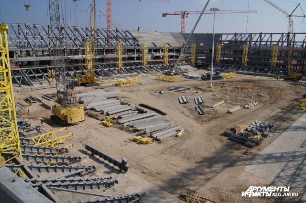 К зиме на открытых участках завершатся все работы по бетонированию.