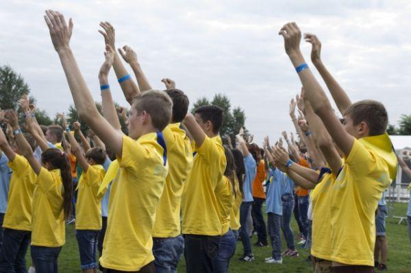 Артековцы тоже принимали участие во время выступлений
