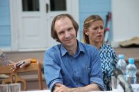 Рэйф Файнс на съемках фильма в Новоспасском.