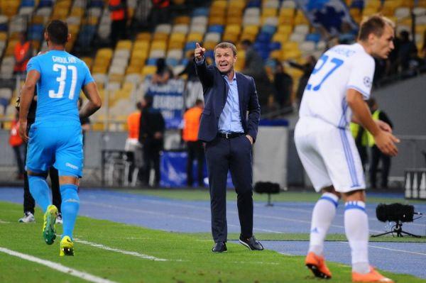 Ребров постоянно реагировал на ошибки Динамо в защите