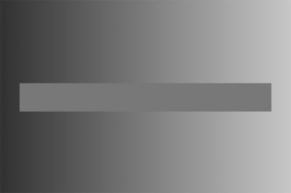 Центральная полоса на самом деле одного цвета по всей длине.