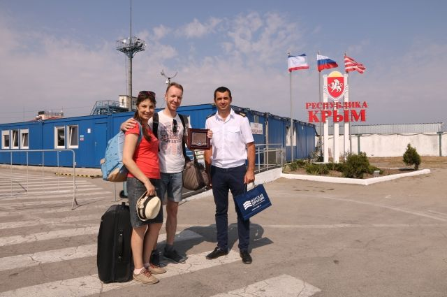 НаКерченской переправе встретили 5-миллионного пассажира