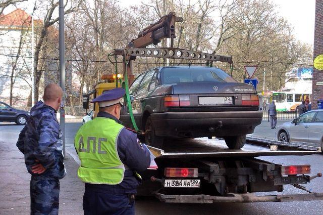 На трех улицах Калининграда запретят остановку автомобилей.