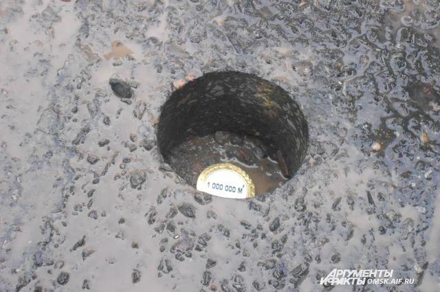 Капсулу заложили в проезжую часть дороги на Космическом проспекте.
